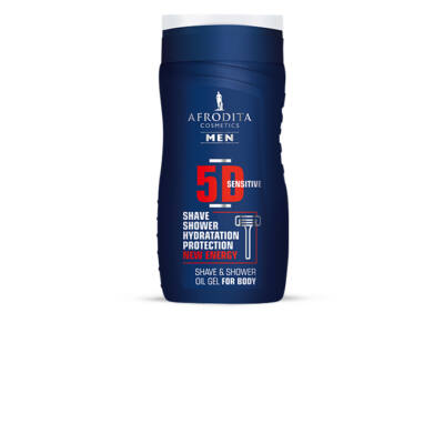 MEN 5D 2 az 1-ben Shave- és olajos tusoló gél testre