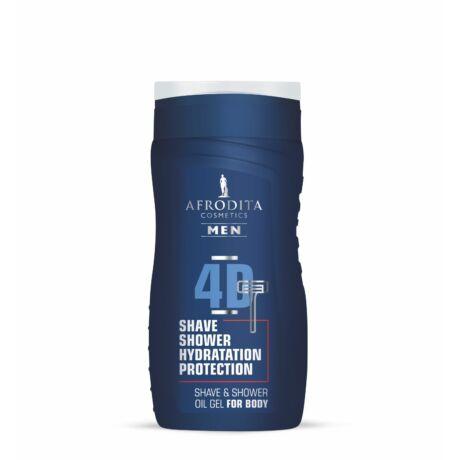 Afrodita MEN 4D 2 az 1-ben Shave- és olajos tusoló gél testre